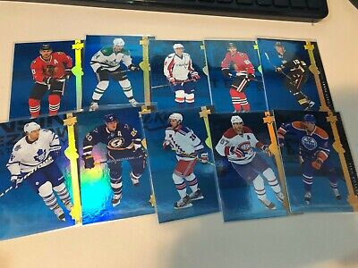 2014-15 Upper Deck Series 1 Shining Stars Wingers ROYAL BLUE set 31-40 Ovechkin
