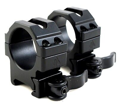 UTG 30mm SCOPE RINGS QD LEVER LOCK TACTICAL LOW PROFILE WEAVER PICATINNY MOUNT