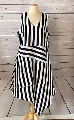 NWT VINCE CAMUTO Plus Size 20W Stripe Asymmterical Dress ...
