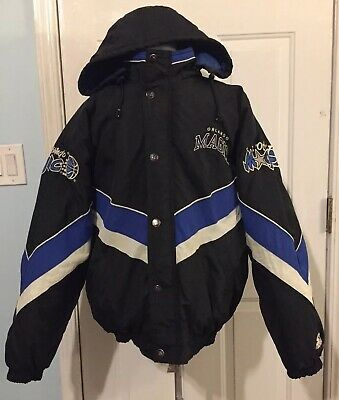 Vintage Orlando Magic NBA Starter Jacket Zip & Snap with hoodie size xl Coat