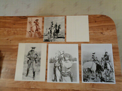 VINTAGE The Lone Ranger Lot Postcard Birthday Card 8x10 Photos Clayton Moore a
