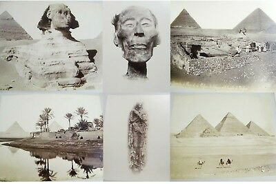 Antique Egypt Albumen Photo Album Pyramids Spinx Mummy Pharaoh Parthenon Galata