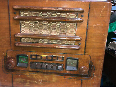 Vintage Coronado tube radio 1930's - 1940's WOOD ready for restoration; Fast S&H