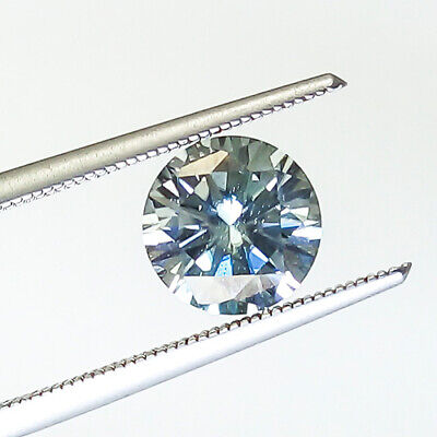 1.80 Cts 7Mm Ideal Cut Round Vs1 Certify Silver White Natural Diamond