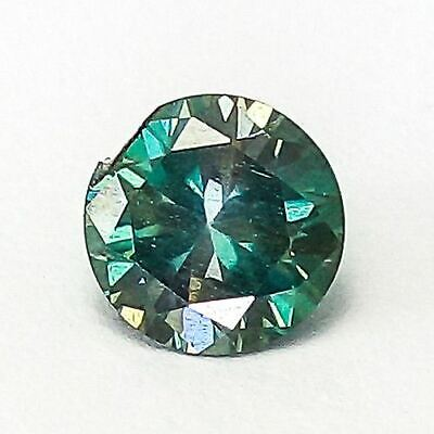 1.71 Cts 7.2Mm Round Stunning Clean Fancy Deep Blue Natural Diamond