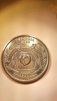 Large 3 Inch Novelty Medal//Coin//Coaster//Paperweight 1916 D Mercury DIME Pewter