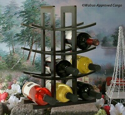 Oceanstar Bamboo Wine Rack -Nib- Turn Even A Small Area Into A Chic Wine Center!