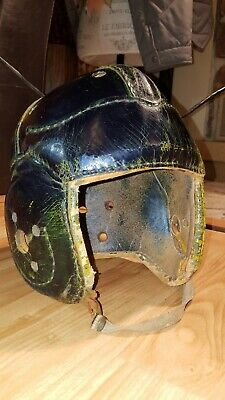 Early Old Antique 1940's Goldsmith Wing Back Leather Football Helmet Vintage