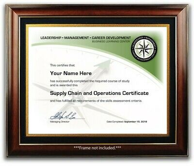 Supply Chain Operations Manager Training Course Certificate Diploma OFFICE DECOR