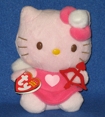TY HELLO KITTY BOW   ARROW VALENTINE BEANIE BABY - MINT with MINT TAGS - NEW 042220266276