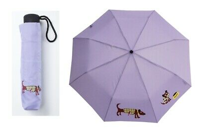 Doppler Taschenschirm Regenschirm Mini Hit Doggy purple lila manuell mini