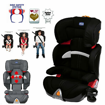 New Chicco Black Oasys Group 2 3 Car Seat Booster Childs Reclining Carseat