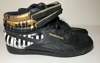 REEBOK Womens Freestyle Alicia Keys Piano City Scene Hi Top Sneakers SIZE  11WO ee959f550