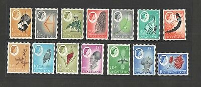 Swaziland - SG90 / 105 short set of 14 mounted mint. Missing 50c & 1r values.