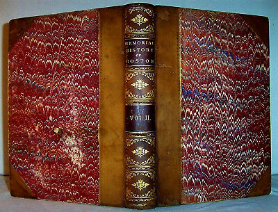 1881 Leather BOSTON Colonial History Massachusetts  Witchcraft Benjamin Franklin