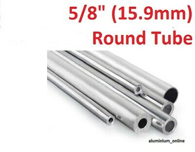 ALUMINIUM ROUND TUBE 5/8 (15.9mm) 2 thickness, lengths up to 2500mm 2.5m