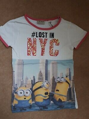 GIRLS NEXT MINION Lost in NYC TSHIRT 6 YEARS