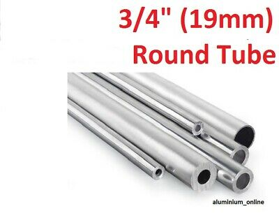 ALUMINIUM ROUND TUBE 3/4 (19mm) 4 thickness, lengths up to 2500mm 2.5m