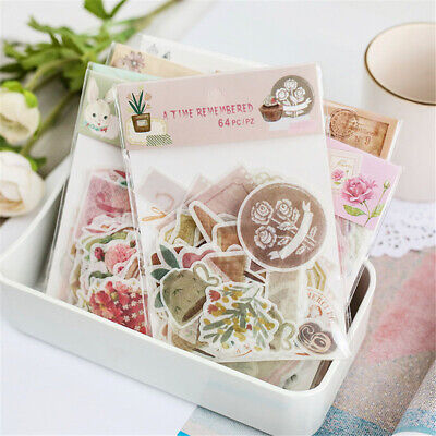 Stationary Scrapbooking Journal Stickers Paper Sticker Phone Decor Diary Label
