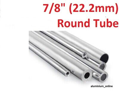 ALUMINIUM ROUND TUBE 7/8 (22.2mm) 2 thickness, lengths up to 2500mm 2.5m