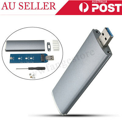 M.2 NGFF SSD SATA To USB 3.0 Converter Adapter External Enclosure Case Box AU