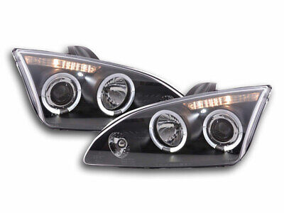 FK-Automotive Scheinwerfer Set Angel Eyes Ford Focus 2 Bj. 05-08 schwarz