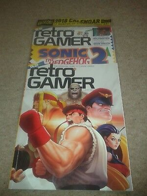 RETRO GAMER - 2issues no.175 (still sealed new) & no.181 ( with exclusive subscr