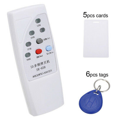 Handheld RFID ID Card Copier Reader Writer + Writable 6 Tags 5 Cards Kit MW