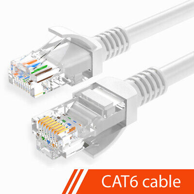 Cat 6 Ethernet Cable RJ45 Network LAN Patch Broadband Internet Router Lead Lot