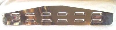 """Mudflap plates(2) 4x24"""" louvered chrome stud mount for Freightliner Kenworth PB"""