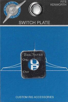 switch plate brake saver stainless steel etched block letter for Kenworth toggle