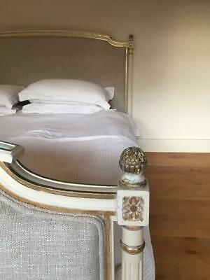 ANTIQUE FRENCH 180CM WIDE RE UPHOLSTERED VINTAGE BED from The Ritz, Paris