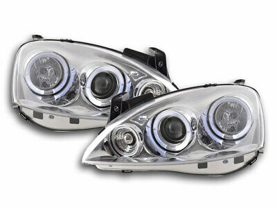 FK-Automotive Scheinwerfer Set Angel Eyes Opel Corsa C Bj. 01-06 chrom NEU & OVP
