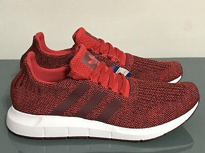 b950c3545 Men s Adidas Originals Swift Run Red Collgiate Burgundy White CG4117 Size  10.5