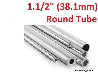 ALUMINIUM ROUND TUBE 1.1/2 (38.1mm) 4 thickness, lengths up to 2500mm 2.5m