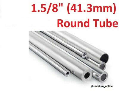 ALUMINIUM ROUND TUBE 1.5/8 (41.3mm) 2 thickness, lengths up to 2500mm 2.5m