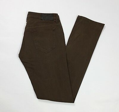 Replay pantalone donna usato straight slim stretch W28 tg 42 marrone T3652 a1f4c33e3eb