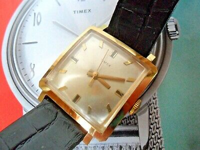 Clean 1970's Vintage Men's Timex SQUARE Mechanical Watch Sold FOR REPAIR
