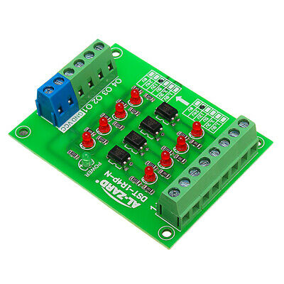 24V To 12V 4 Channel Optocoupler Isolation Board Isolated Module PLC