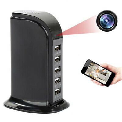 WIFI 1080P HD Wireless Camera Socket USB Charger Cam Video Recordere