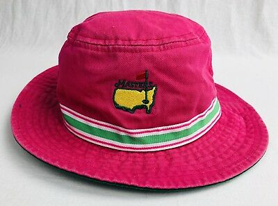 6ce879f8fcb RARE Vintage Girls Youth Masters American Needle Pink Bucket Hat One Size