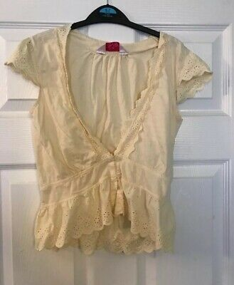Miss Evie Girls Yellow Blouse Size 8-9 Years Excellent Condition