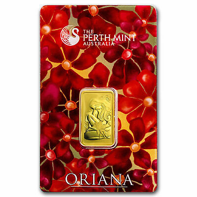 "Perth Mint Oriana 5 gram Gold Bar - In Assay .9999 Fine Special Release ""Oriana"""