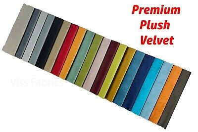 Premium Plush Velvet Fabric Upholstery High Quality Soft Cushion Craft Curtain