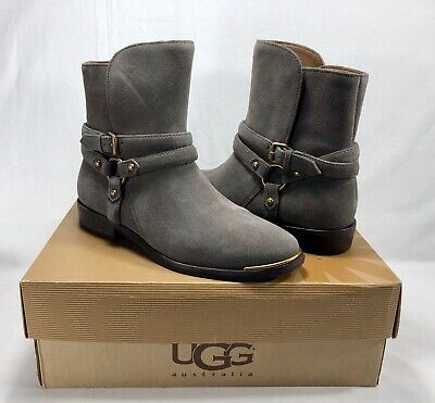 23a3a4bb97c UGG KELBY MOUSE Gray Buckle Boots/booties, Women'S 7.5, New