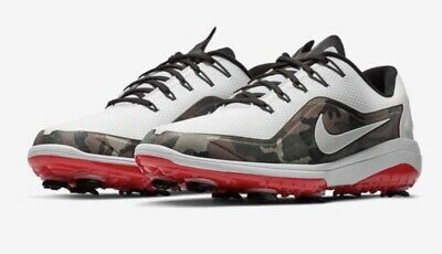 best sneakers 33a6d 6c278 New Nike React Vapor 2 Golf Shoes - White Red Camo - Men s Size