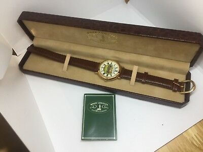 Vintage Roger Lascelles NEW WATCH GOLF RARE SWISS MENS WOMENS GIFT ENGLISH FAN