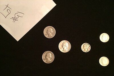 $1.05 Face Value-90% Junk Silver U.S. Coin Lot - Quarters And Dimes