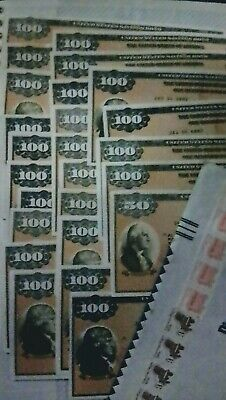 US Savings Bond's Series EE Founding Fathers Stack