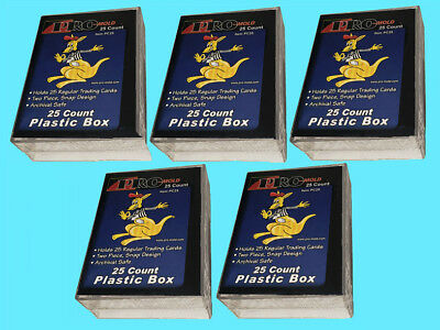 10 PRO MOLD 25 COUNT Trading CARD SNAP STORAGE BOX Plastic PC25 2-piece sports